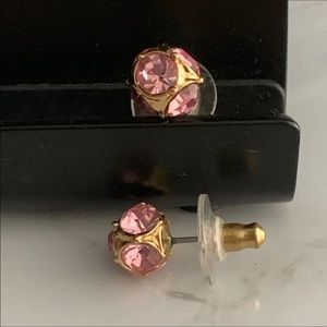 Juicy Couture Pink Studded Earrings
